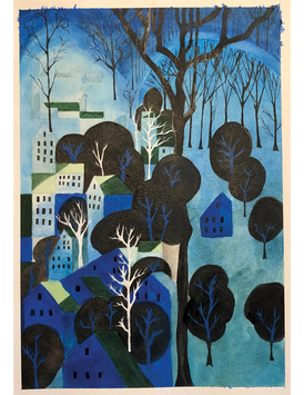 """Copy of Eyvind Earle's """"Midnight Blue"""" - Rendering"""