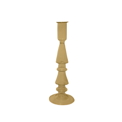 A LA - GLASS CANDLE HOLDER MUSTARD