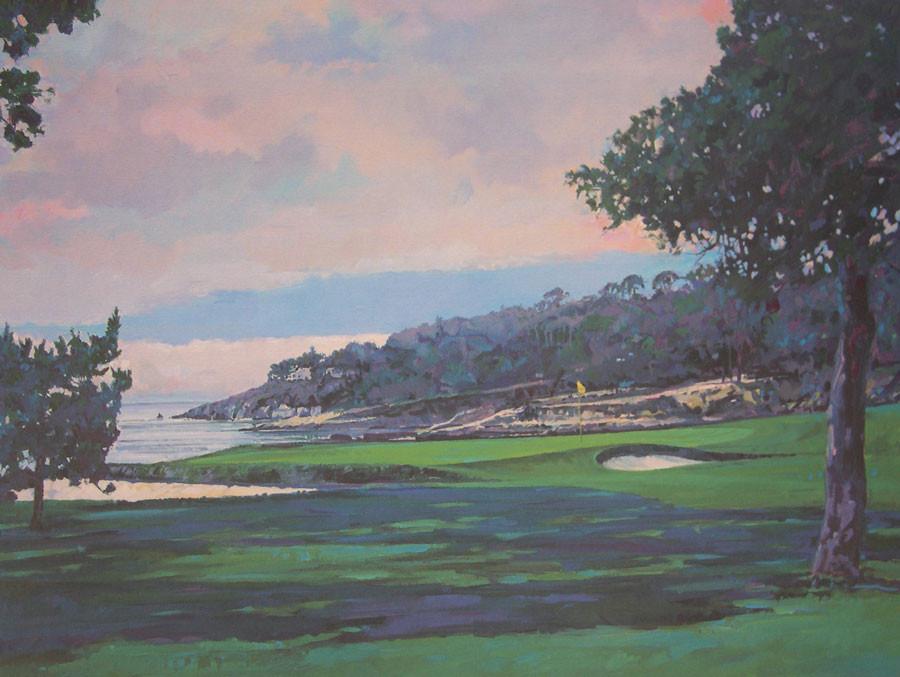 18th Hole Pebble Beach by Robert Schaar