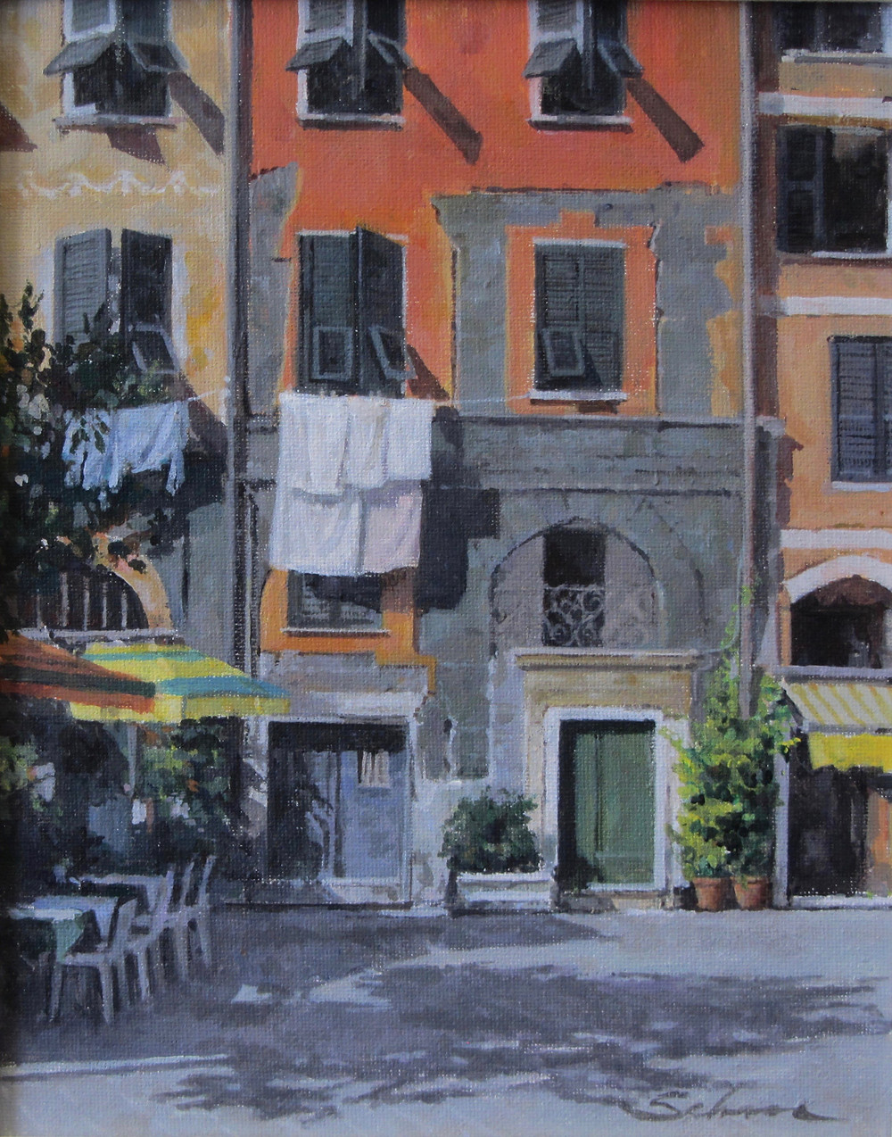 Green Door, Italy (Original-acrylic on canvas)