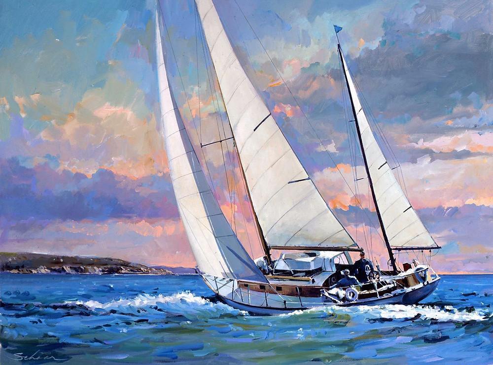 Off Newport Beach by Robert Schaar