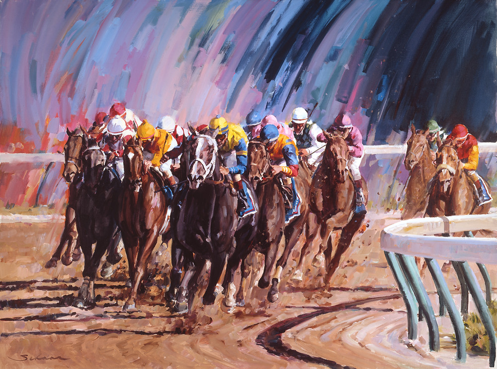 Winning Colors Turning for Home (Limited-edition giclee)