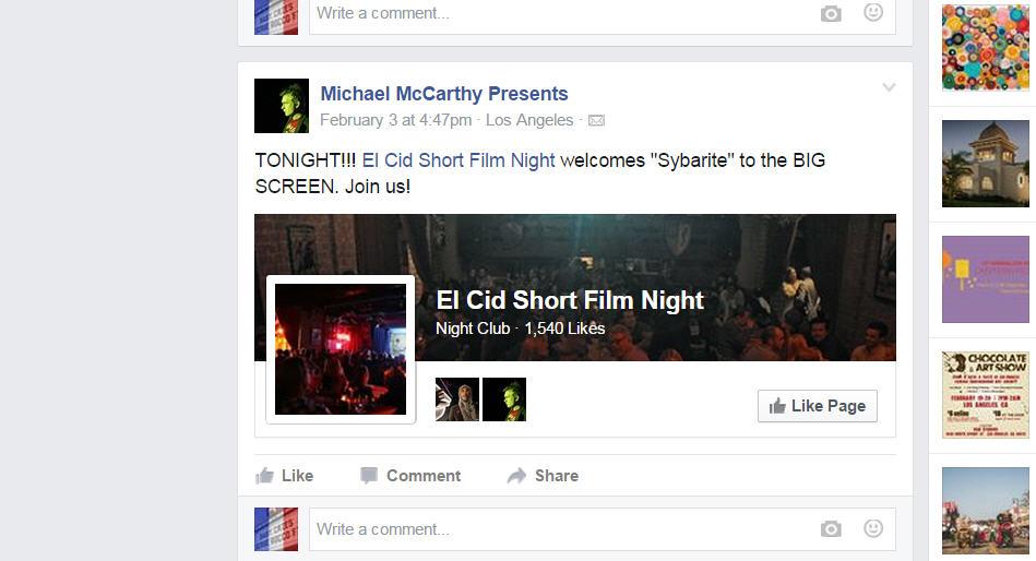 """""""Sybarite"""" Premiere at El Cid"""