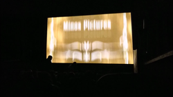 Inside the theater