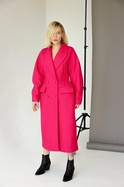 Пальто фуксия BUTS8