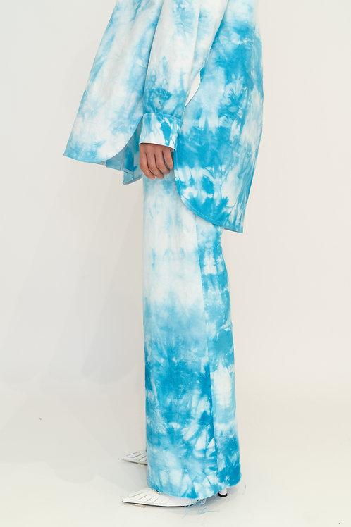 Джинсы-клеш с принтом tie-dye
