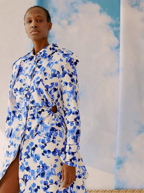 Платье-тренч цветочный принт