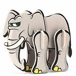 Elephant Plastic 3D Puzzle.jpg