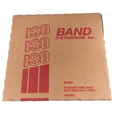 """FLEJE 3/8"""" ISO, ACERO INOX 201 (TipoBAND-IT)"""