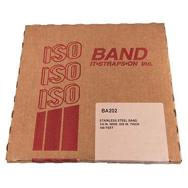 """FLEJE 1/4"""" ISO, ACERO INOX 201 (TipoBAND-IT)"""