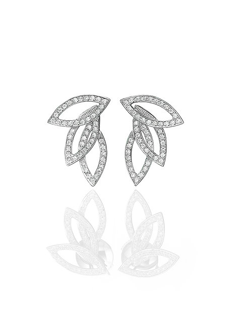 Diamonds Leaves Earrings-small