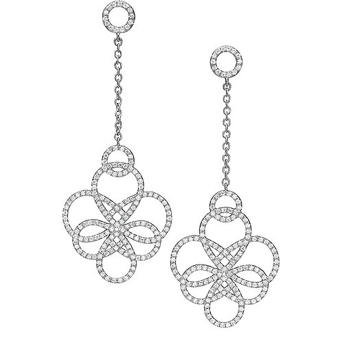 Diamonds Arabesque long Earrings