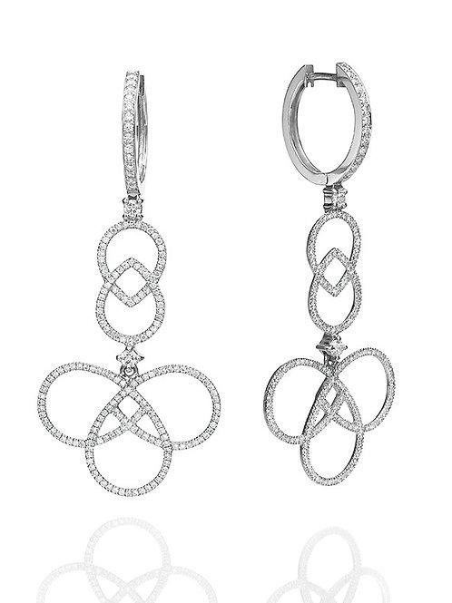 Arabesque Diamonds Drop Earrings