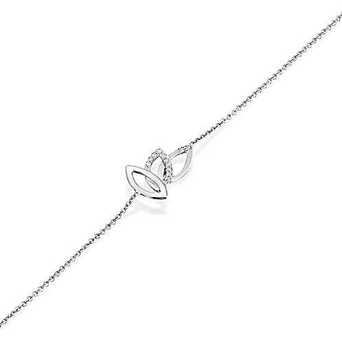Three leaves diamonds bracelet