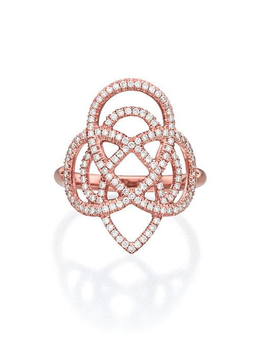Diamond Arabesque Statement Ring