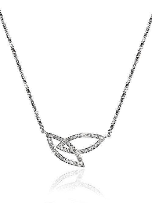 Two Leaves Diamonds Pendant