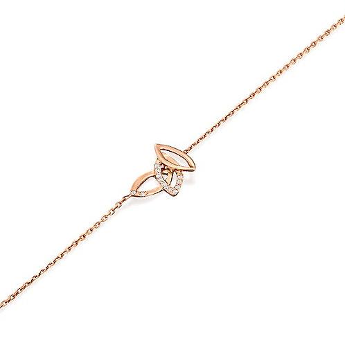 Three Diamonds Leaves Bracelet