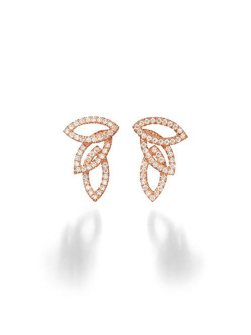 Leaves Diamonds Earrings small