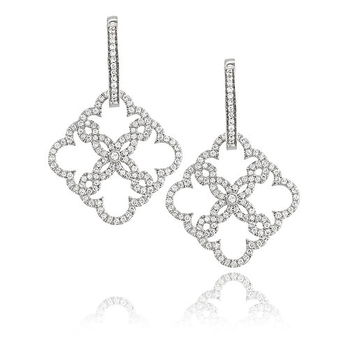 Diamonds Lace Earrings  / Pendant