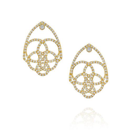 Diamonds Hamsa Earrings