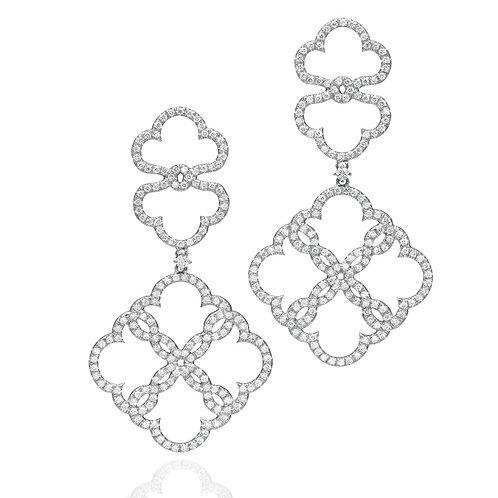 Lace Diamonds Big Drop Earrings