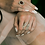 Thumbnail: Diamonds Leaves Open Ring