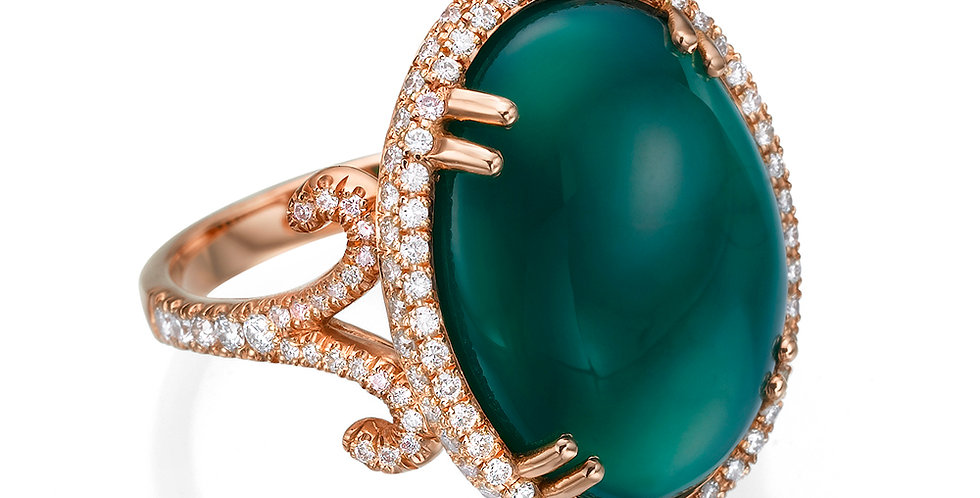Green Onyx Cocktail Ring