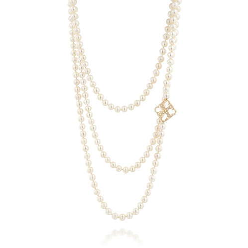 Pearls and Diamonds Lace Necklace