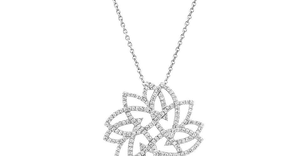 Round Leaves Diamonds Pendant
