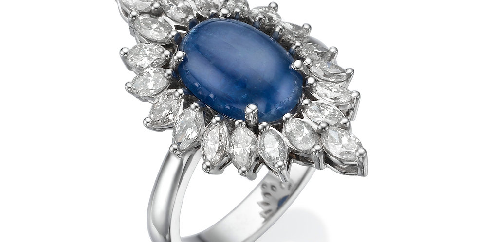 Sapphire and marquise ring