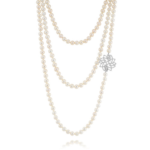 Leaves and Pearls Necklace