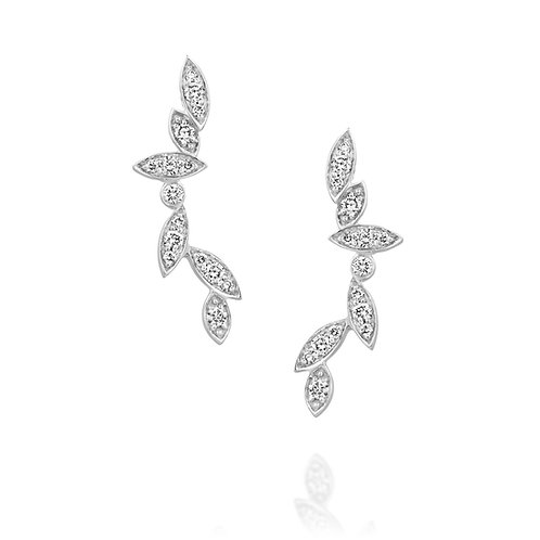 Six Leaves Diamonds Earrings