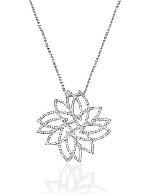 Leaves  Diamonds Pendant