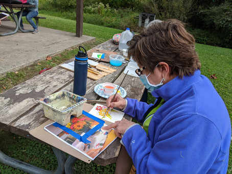 Cynthia Wells Presents Gouache Painting, Shove Park, Camillus 09/14/2020