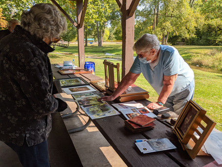 Scratchboard on Clay Board with Delores Herringshaw, Shove Park, Camillus September 22, 2020