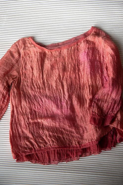 Blusenshirt aus Leinen-Seide, Vorder- und Rückenteil gefüttert