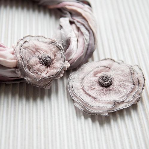 Fleur en soie mangétiqu