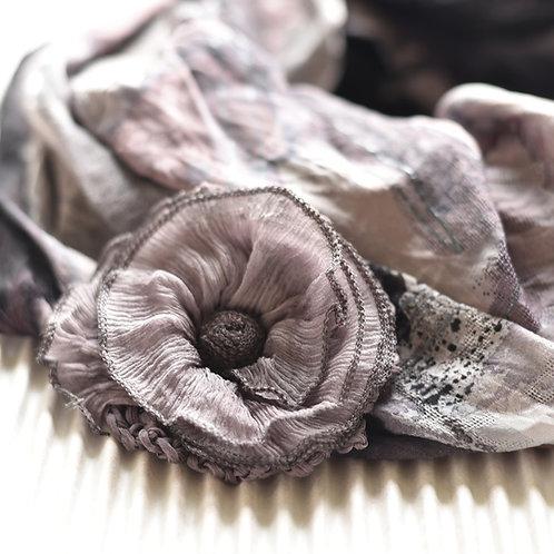 Fleur en soie magnétique