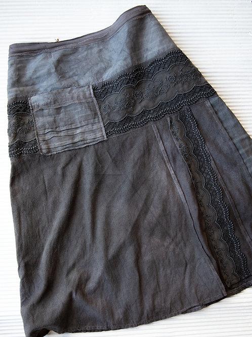 jupe en soie bourette avec ruban élégant