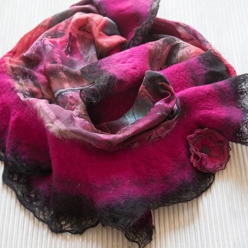 châle en soie avec de la laine feutrée