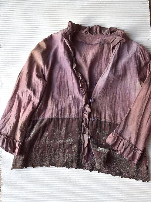 veste en soie/coton avec du velours en soie