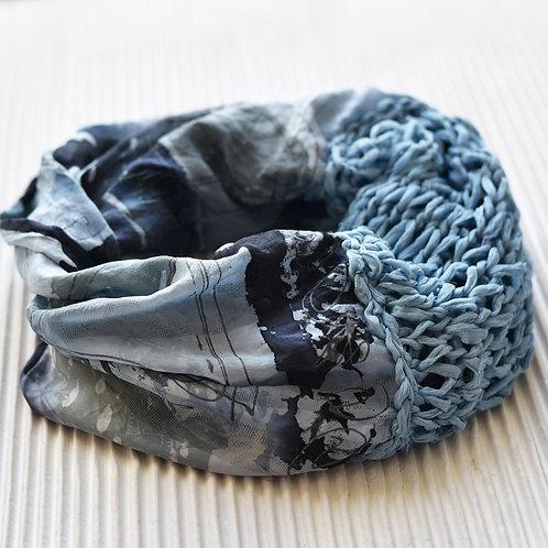 écharpe loop avec du tricot en soie