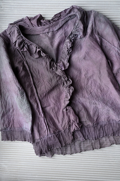 leichte Jacke aus Seide-Baumwolle