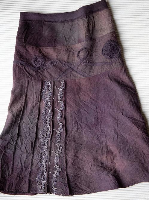 Jupe aus Wolle mit besticktem Glitzer-Zierband