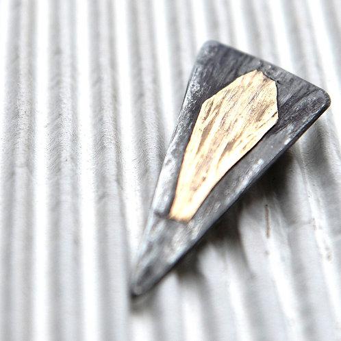 Magnetbrosche aus Titan, bicolor, ca. 2,5x5 cm
