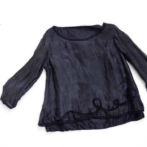 Blouse en lin et soie, doublure devant et dos