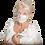 Thumbnail: Gesichtsmaske aus handbemalter Seide