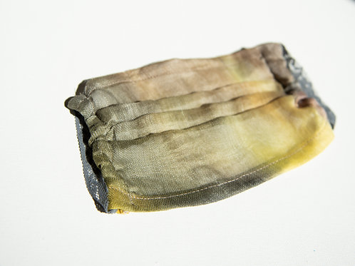 masque de protection en lin-soie, peint à la main