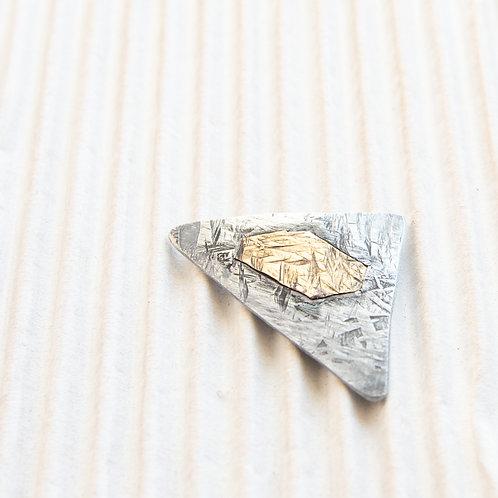 broche magnétique en titane, bicolore, environ 3x5 cm