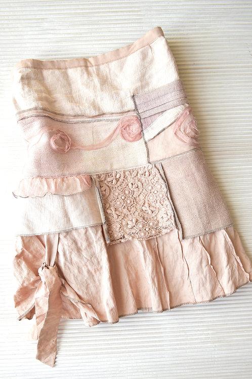 jupe en soie et lin